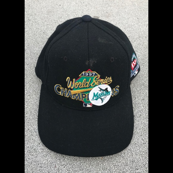 NEW ERA VINTAGE FLORIDA MARLINS SNAPBACK HAT CAP 7e7eeb005d90